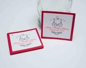 25 - Custom Bridal Shower Favor tags - Lingerie Bachelorette tags