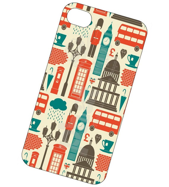 London Landmarks iPhone case, cover for iPhone 4 and 4s - London Landmarks phone case