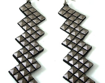 SALE Vintage fashion Handmade earrings with silver gold studs