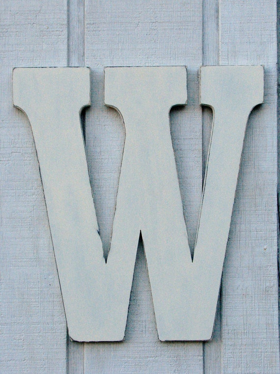 Large Wooden Letters For Wall Decor : D large wood letters w distressed wooden vintage