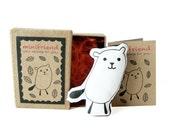 SALE! Ends on 6th April. Cotton Message Doll - Minifriend Taki