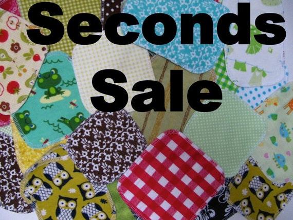 Sale Cloth Wipes, Family Cloth, Cloth Diaper Wipes, 20 Neutral Prints, SECONDS WIPES