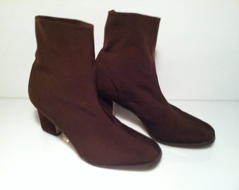 Ankle Boots, boho shoes, pull on boot ANKLE STRETCH STYLE, patent and croco material