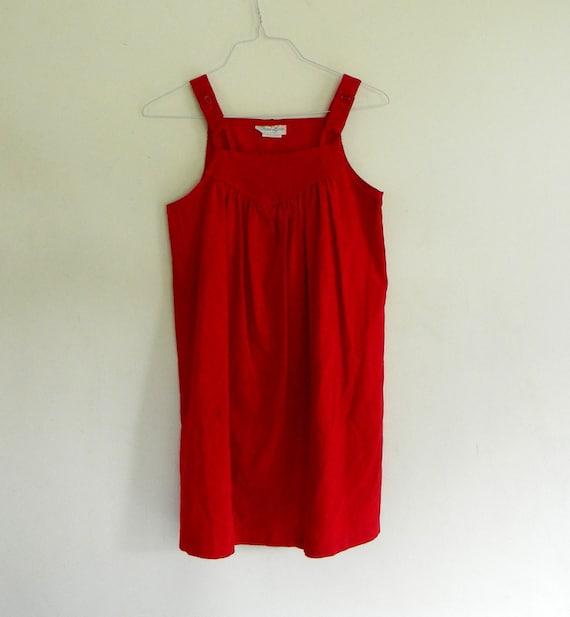 Girls Vintage Red Couderoy Jumper Size 10