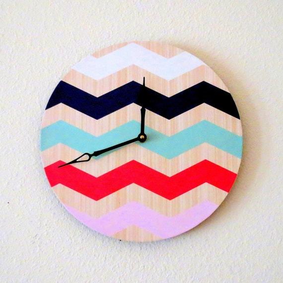 Chevron Wall Clock Home Decor Decor And Housewares By