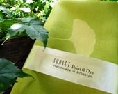 Linen Ginkgo Napkins chartreuse matching set