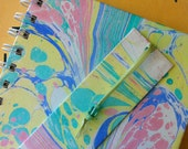 Hand Marbled Mini Double Wire Bound Journal