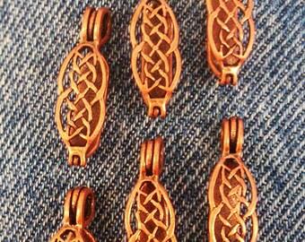 Antique Copper Celtic Style Donut Bail