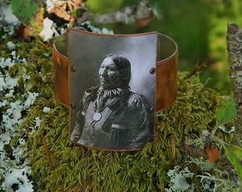 Native American jewelry Native American bracelet American Horse mixed media jewelry