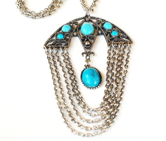 1970s Boho Swag Pendant Necklace