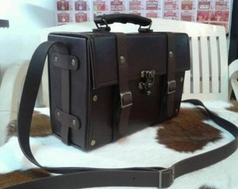 Hand made  retro doctor bag