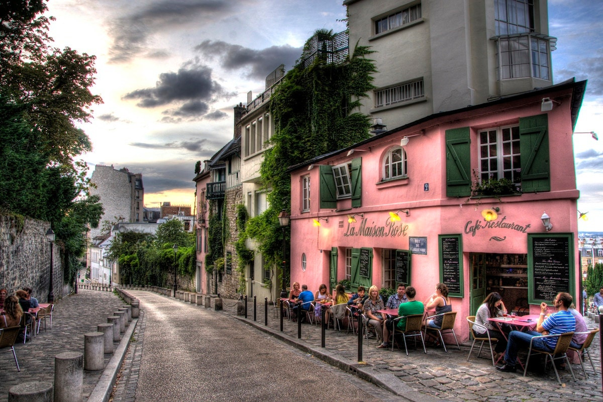 Paris france cafe french montmarte outdoor by skatinginspirations
