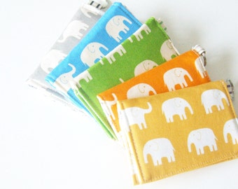 Elephant Business Card Holder - Keychain Wallet - Velcro wallet