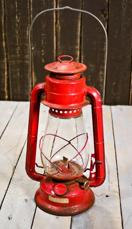 Vintage Lantern Dietz No. 20 Kerosene Lantern Red Lantern