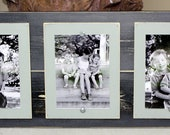 Triple 5 x 7 Distressed Grey Frame / Coastal Cottage Feel