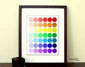 "8""x10"" Printable Art - ""Rainbow Dots"" - Fun, colorful print for children's playroom or nursery art - Available as an Instant Download"