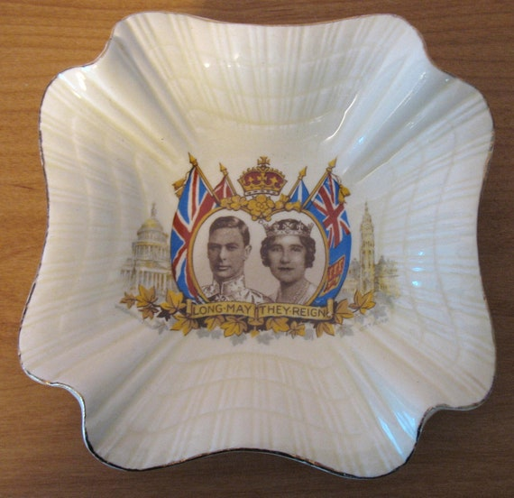 King George VI & Queen Elizabeth Royal Visit to Canada and USA May 1939 Canadian Tour Dish