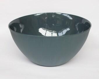 large serving bowl - porcelain (slate colour)