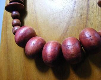 Redwood cognac spool necklace