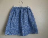 Alice Lolita Skirt - Alice In Wonderland Costume - Halloween - Alice Cosplay - Blue Rose Cotton Skirt SM MD