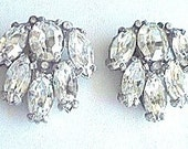 French Art Deco Dress Clips Clear Rhinestone 1920s Vintage Wedding Wedding Jewelry