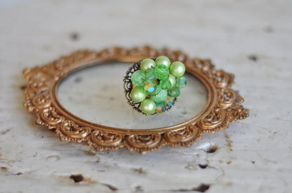 On SALE- Vintage Beauty Bauble Ring