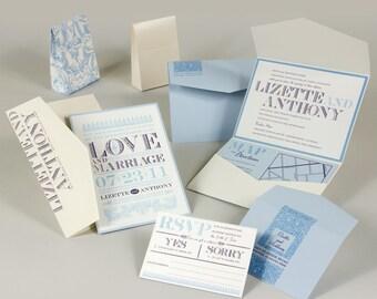 Wedding Invitations  - Blue Wedding Invitations