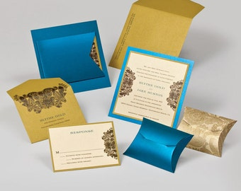 Wedding Invitations - Gold Wedding Invitations
