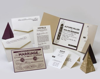 Wedding Invitations - Autumn Collection