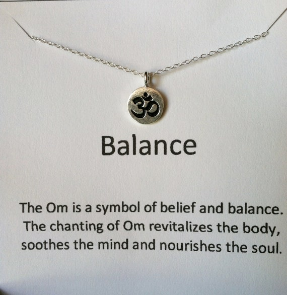 Ohm Necklace, Om Sterling Silver Necklace, Balance and Serenity
