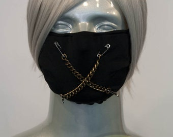 Black J-Rock Surgical Mask