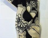 black and ivory fabric bundle