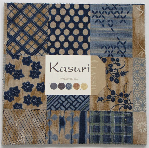 Moda Kasuri Layer Cake 42 10 Quilt Fabric Squares By