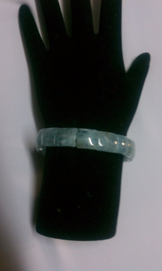Beautiful Rectangle cut Aquamarine Bracelet