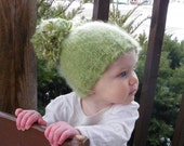 Woodland Pom pom hat Kids winter hat 2 years and up Made to Order