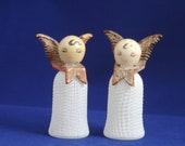 Vintage Glass Angel Salt N' Pepper Shakers