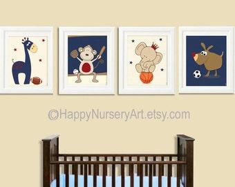 boy nursery decor, Nursery decor, Boys nursery wall art, sports ,animals,art for bedroom, nursery wall art,nursery wall decor,nursery prints