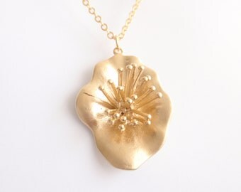 Lotus Gold necklace- Bridesmaid,Wife, Girlfriend, Mothers Gift Idea