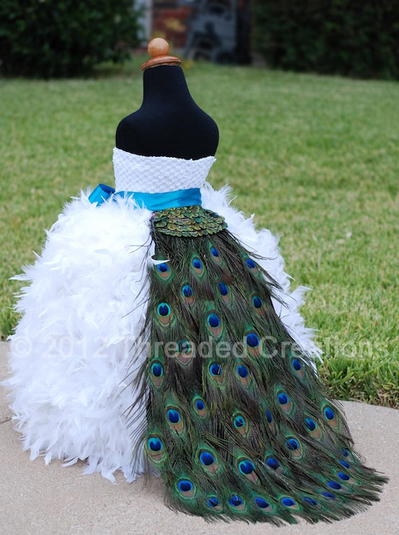 Peacock Train Peacock Feather Bustle Tail Peacock Wedding