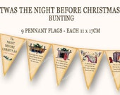 NIGHT BEFORE CHRISTMAS bunting pennant flags printable christmas  banner Magentabelle download 121