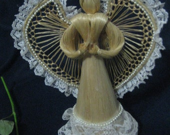Vintage Raffia Angel Lace Trim-Collectible