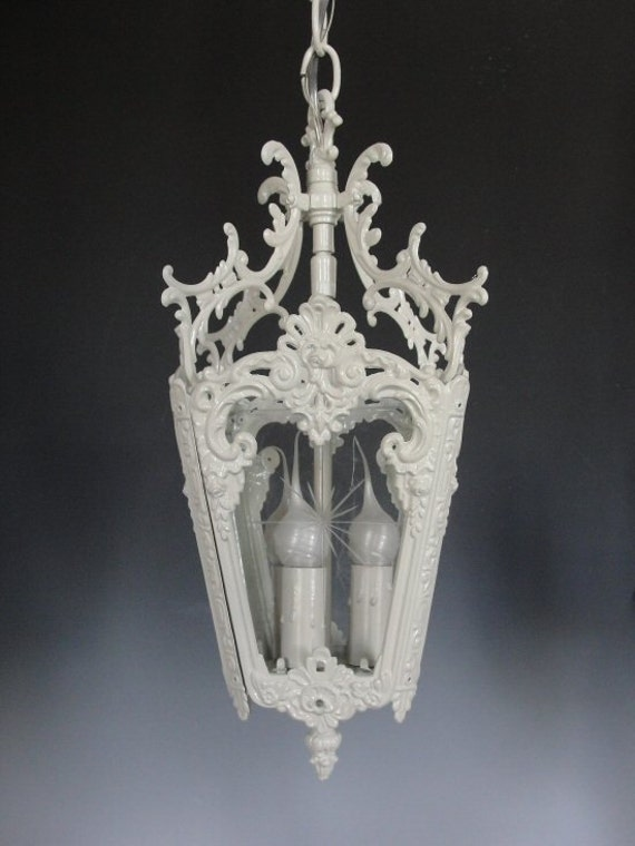 Cottage Lighting Shabby Chic Chandelier White Vintage