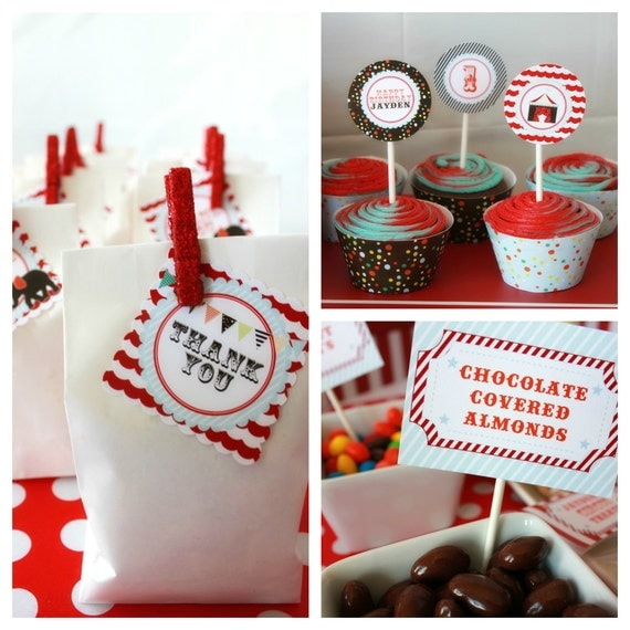 Carnival Birthday Party Package - Circus Birthday Party Package - DIY PRINTABLE Personalized Party Package