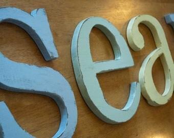 Wood Nursery Letters, Baby Name, Custom