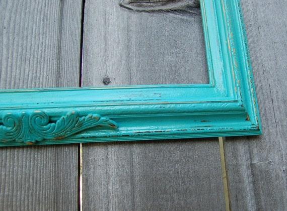 "Tiffany Aqua Blue Wood frame 26 x 30"" + Chalkboard"