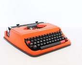 Vintage manual orange Antares Typewriter etsy black friday cyber monday