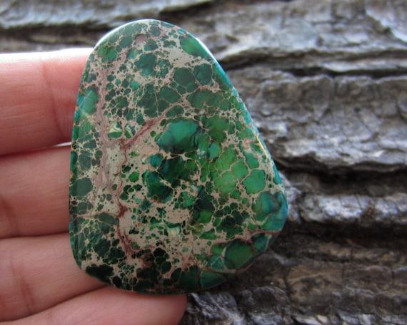 20% off Anniversary Sale Gemstone Pendant Bead  VARISCITE Jasper Cabochon, Trapezoids  shape, Drilled Stone,Jewelry making Supplies S931