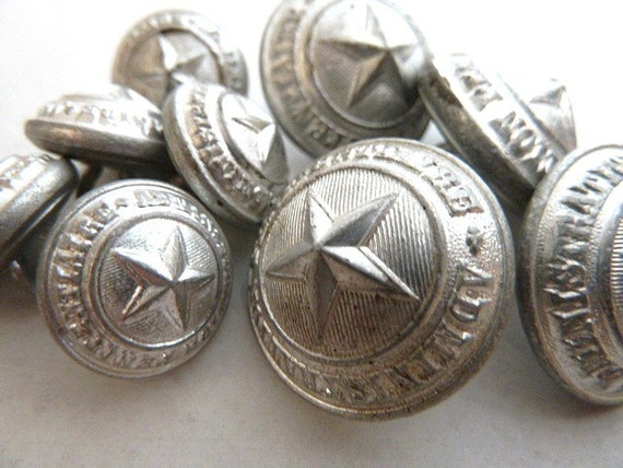 Vintage French Prison Buttons.Penitentiary management .Collectibles.Silver