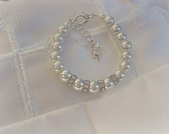 Baptism gift-Baby Bracelets-Baptism jewelry-Christening-Cross Baby Bracelet
