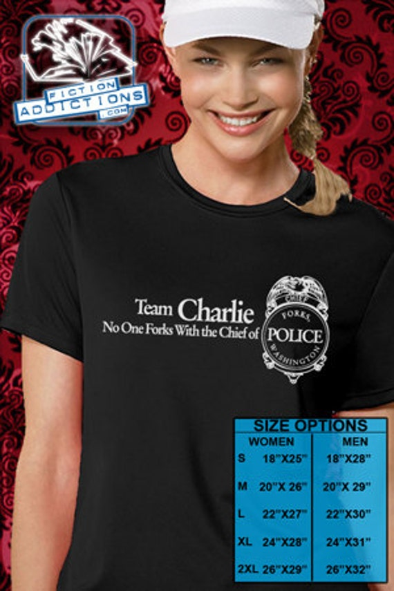 Twilight Eclipse Breaking Dawn Team Charlie Unisex or  Women's Shirt - Sm-XL with Free Gift